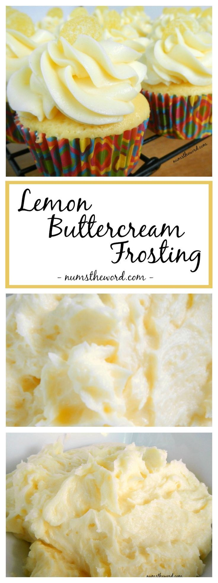 Lemon Buttercream Frosting, is naturally flavored and perfect for any cake or cupcake. Not too sweet, not too strong, just the right amount of lemon in a frosting!