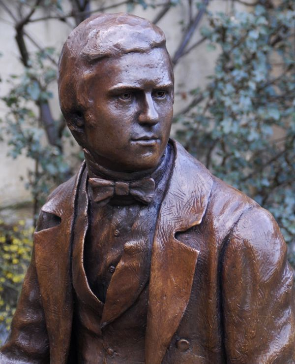 #Bronze #sculpture by #sculptor Anthony Smith titled: 'The Young Charles Darwin'. #AnthonySmith