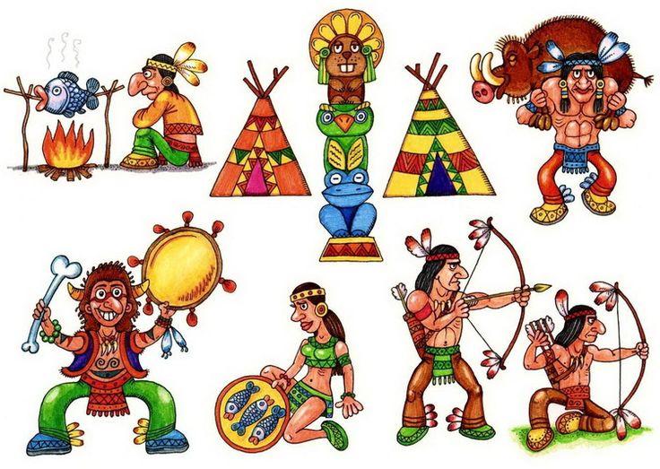 Стоят, индейцы картинки для детей