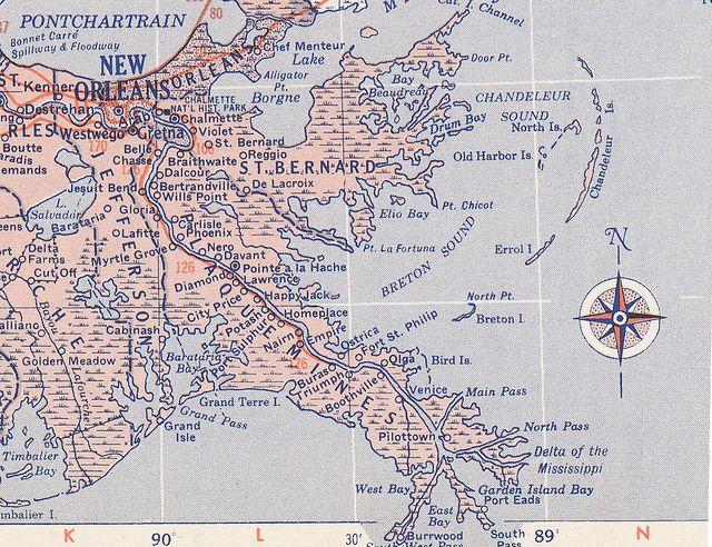 Plaquemines Parish Louisiana Map