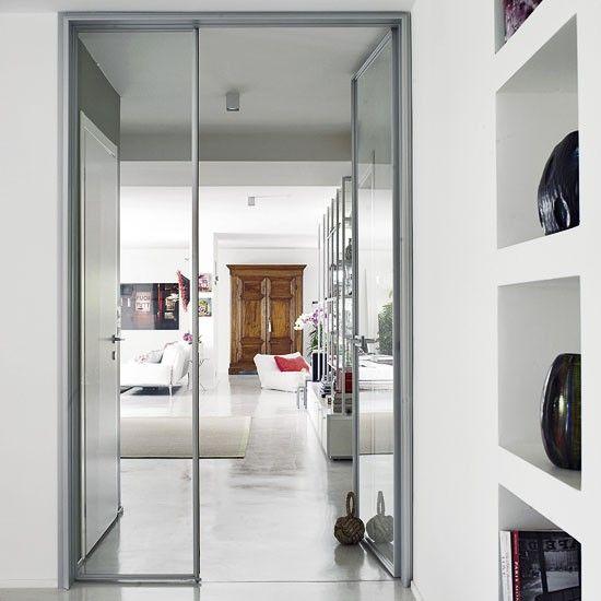 Offener Wohnraum mit Floating-Regale Wohnideen Living Ideas Interiors Decoration