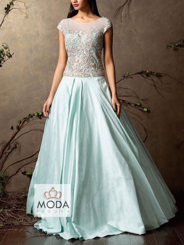 Bridesmaid gown, Indian long gown, full length anarkali, floor length long dress, moda figura