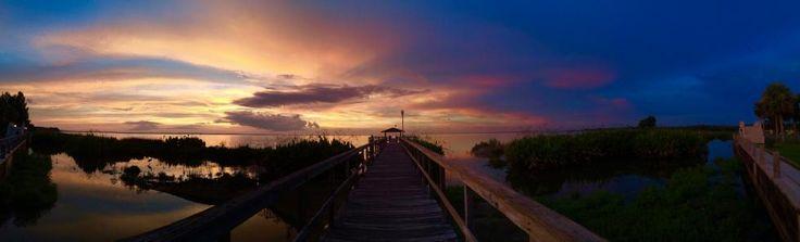 Sunset Apopa Lake in WINTER GARDEN, FL on Jul 20, 2016