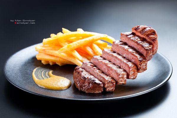 Lentrecote restaurant foodgraphy by Max Smolyar Photoproduction , via Behance