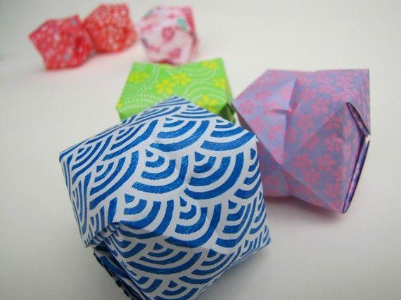 Origami Lanterns Set of 50 Handmade Paper Lanterns by pipodoll