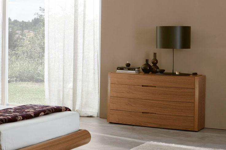 Camera da letto completa in noce canaletto 104- comò Elti   Napol.it