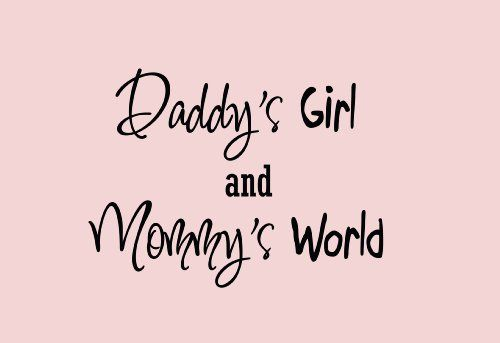 I Love You Mom And Dad Quotes Tumblr : Daddys girl, Wall art quotes and Art quotes on Pinterest