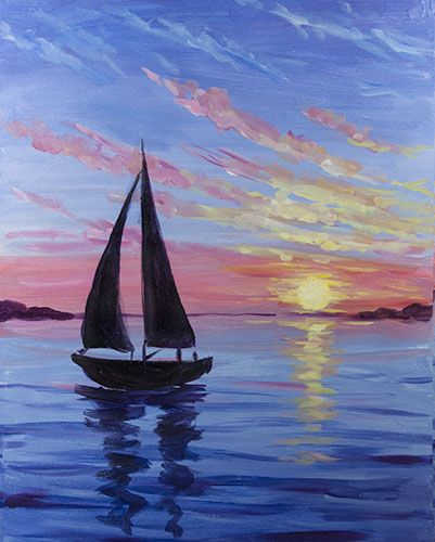 Moment on the Ocean at Pizza  Factory (Placerville) - Paint Nite Events near Placerville, CA>