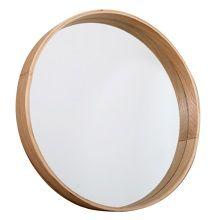 Butik Ronde houten spiegel - Ø 45 cm