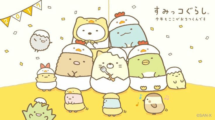 Cute Real Pigs Iphone Wallpaper Sumikko Gurashi Characters Dressed As Chickens Sumikko