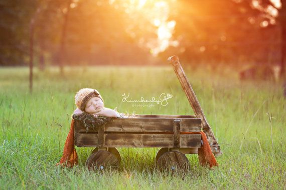 Rustic Wooden Wagon by LilaPhotographyProps on Etsy, $70.00