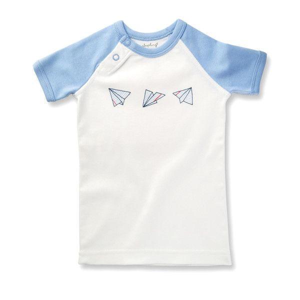 This Graphic Tee is exclusively designed by Sapling, an Australian company specialising in the most comfortable, highest quality 100% organic cotton children's wear.      Flight Collection - Paper Planes Made from the finest organic cotton - 100% GOTS certified. Printed with organic, 100% GOTS approved water-based dyes. Snap buttons at the neck for easy changing. Closed, flat-seam stitching protects baby from irritating inner seams and provides greater strength for quality and longevity.