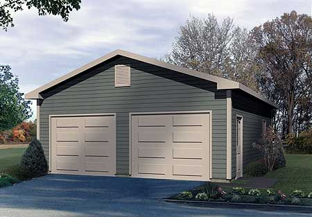 Plan 2215sl detached two car garage detached garage for 2 5 car garage cost