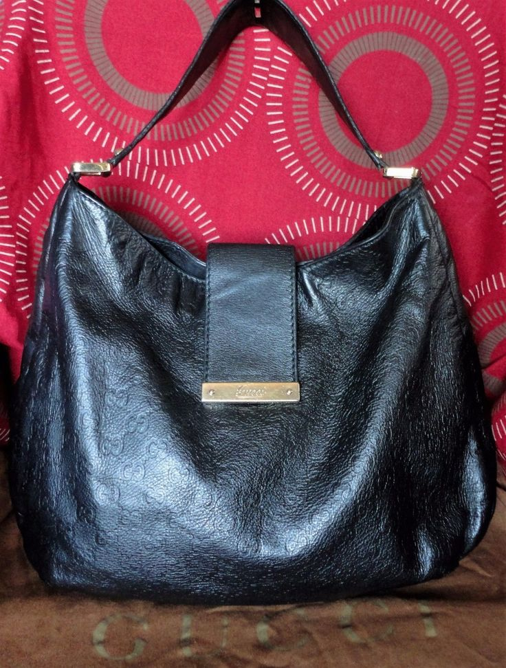 SALE! 100% AUTHENTIC BLACK GUCCI GUCCISSIMA HOBO BAG IN GOOD USED CONDITION | eBay