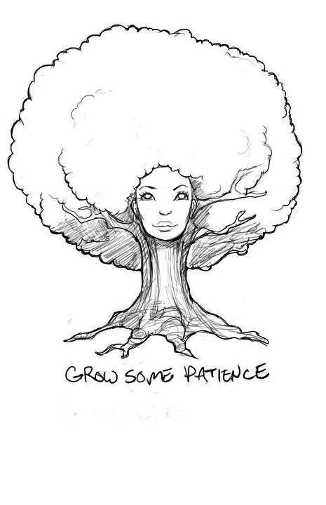 Love this natural hair tree! Other people have tried searching but can't find the original artist :( If anyone knows who created this, please give credit