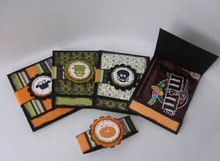 matchbook halloween treat cards - Halloween Treat Holders