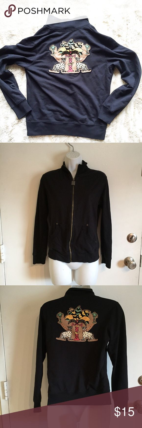 Nilla Shields Unique Zip Up Jacket Unique Nilla Shields zip up jacket with ethnic patch on the back. Size small. #unique #nillashields #zipup #jacket #small #ethnic #traveler #punkydoodle  No modeling Smoke and pet free home I do discount bundles Nilla Shields Jackets & Coats