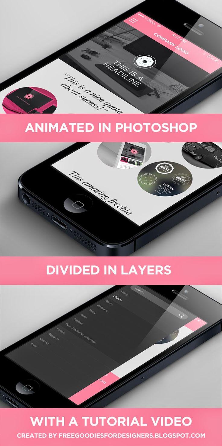 FREEBIE PHOTOSHOP ANIMATION MOCK UP DOWNLOAD FOR FREE HERE: http://freegoodiesfordesigners.blogspot.se/2014/07/free-photoshop-animated-menu-for-mobile.html #freebie #freebies #IPHONE #iphone5 #iphone5s #isometric #mobilescreen #isometricscreen #free #3d #animation #photoshop #photoshopanimation #animatedgif #animated #animatedsite #mobilesite #responsivesite #portifolio #dribbble #iphonemockup #mockup #freemockup #color #white #black #free #template #freetemplate #photoshop #freepsd #psd