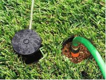 For people tired of dragging around a lawn sprinkler, we have found a simple solution...