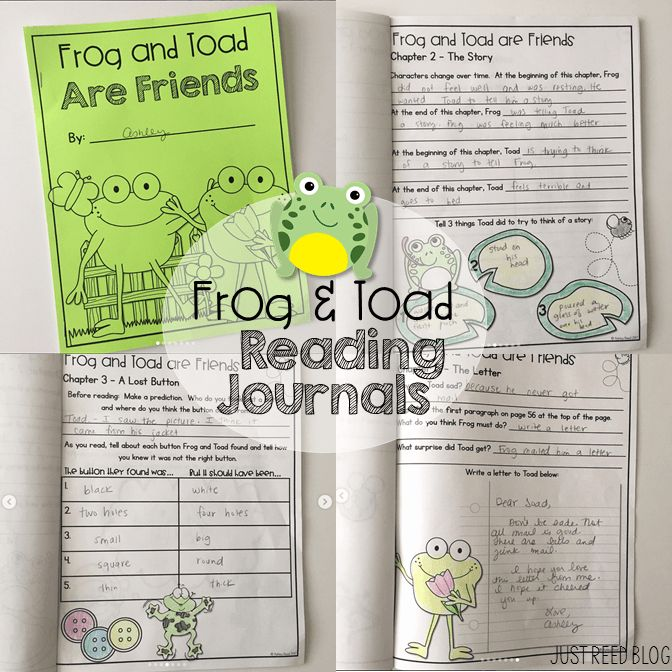 These Frog and Toad reading journals are perfect for an Arnold Lobel author study or guided reading groups in first or second.
