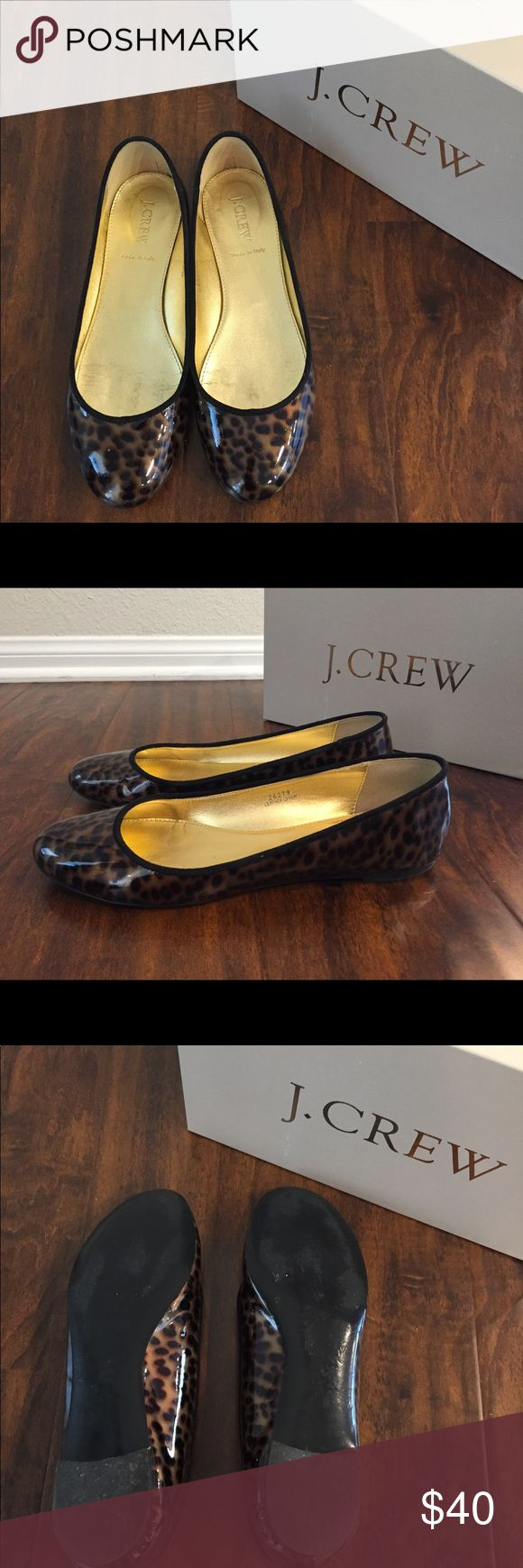J.Crew Pearlized Animal-print Ballet Flats Size 8 This Classic stunning J.Crew Bronze Tortoise Ballet Flat has a metallic gold interior.  EUC.  Made in Italy.  Women's size 8 J. Crew Shoes Flats & Loafers