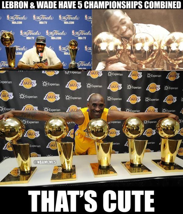 LeBron James & D-Wade vs. Kobe Bryant! - http://nbafunnymeme.com/nba-memes/lebron-james-d-wade-vs-kobe-bryant