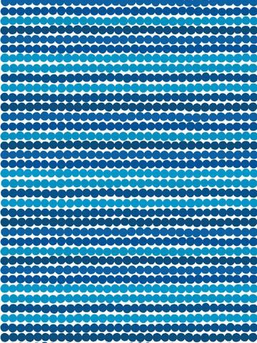 MARIMEKKO RASYMATTO BLUE COTTON FABRIC  #stripes #dots #polkadots #blue #navy #turquoise #DIY #fabric #pillows #duvet #marimekko #pirkkoseattle #pirkkofinland