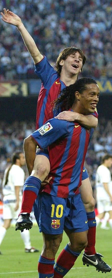 FC Barcelona Messi and Ronaldinho two of my favorite players. South American Pride!!!