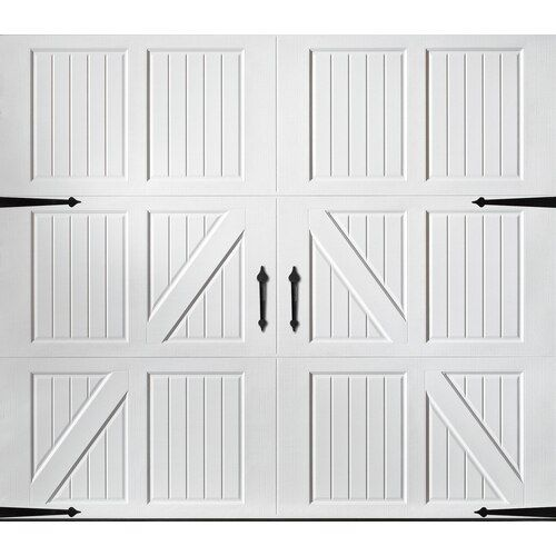Pella Carriage House 108 In X 84 In White Single Garage Door At Lowes Com Single Garage Door White Garage Doors Garage Doors