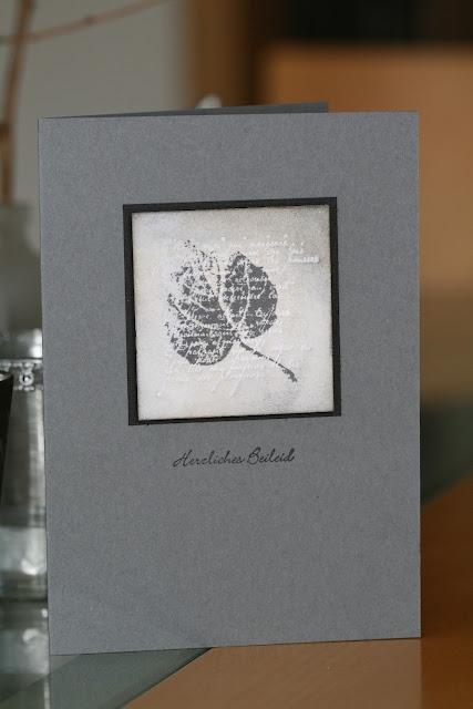 Schönes aus Papier handgemacht!, Trauerkarte