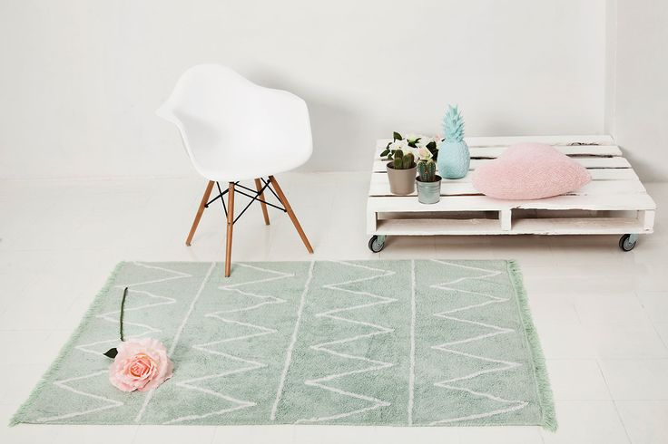 Washable rug Hippy Mint/Alfombra lavable Hippy Mint