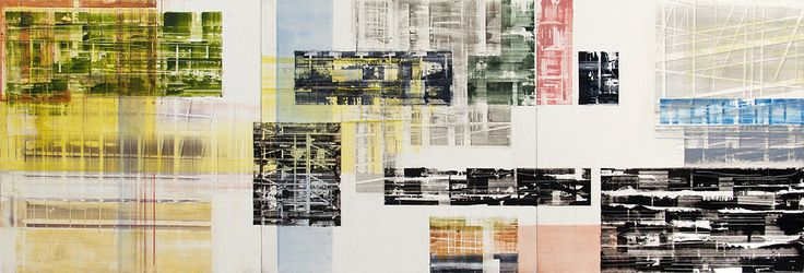 """Untitled 12.2 (triptych) 2013, oil on panels, 16"""" x 48"""" (41 x 122 cm)"""