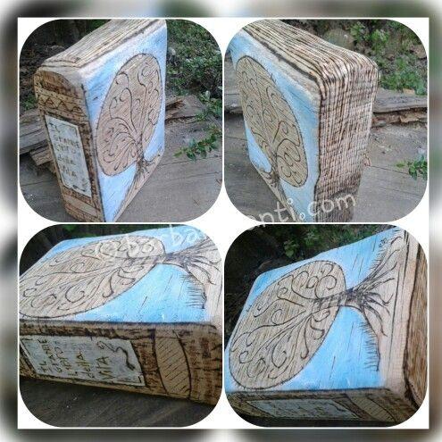 """il grande libro della vita""  © barbarasanti.com  #pirography #pirographyart #pirografia #pirography #homedecor #art #myart #legno #wood #woodart #artwork #pirographyart"