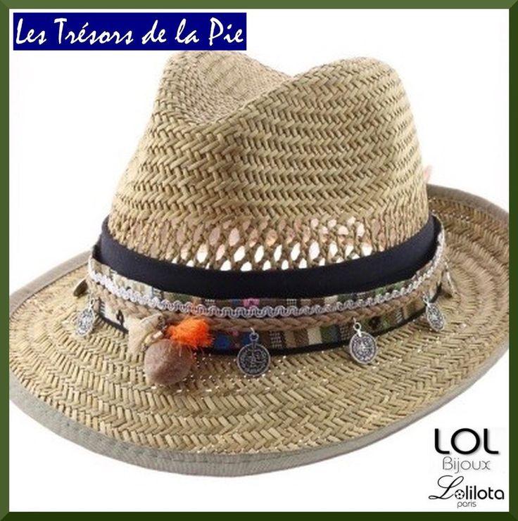 Bijou de chapeau LOL BIJOUX LOLILOTA 2016 - POMPONS & SEQUINS - Marron