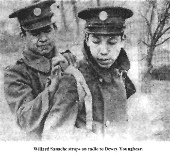 Meskwaki Code Talkers. Meskwaki men used their language against the Germans in North Africa. Twenty-seven Meskwaki, then 16% of Iowa's Meskwaki population, enlisted in the U.S. Army together in January 1941