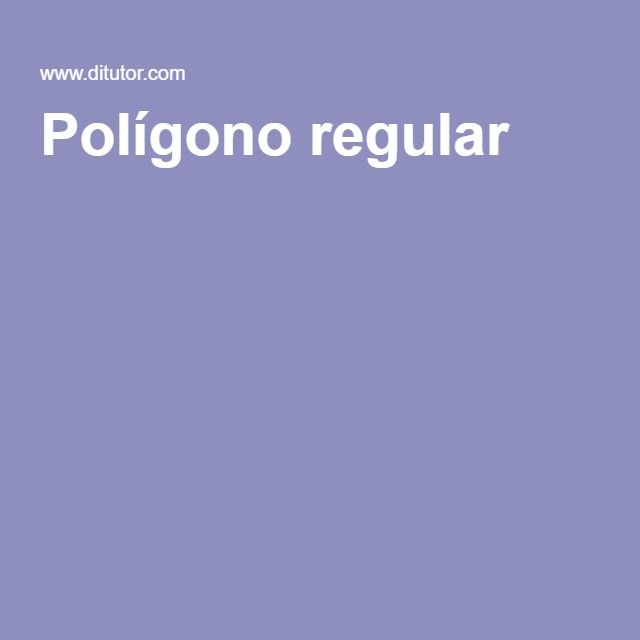 Polígono regular
