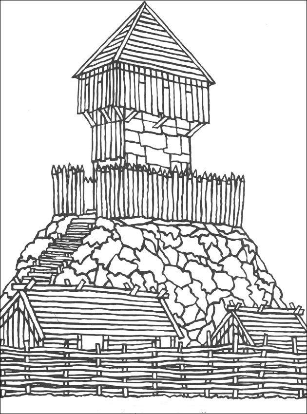 17 Best Images About Coloriage Medieval Chateaux Villes