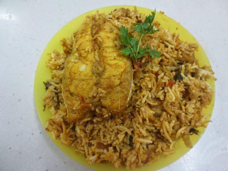 Home Cooking....: Fish Biryani with Hamour Fish (Dum method)