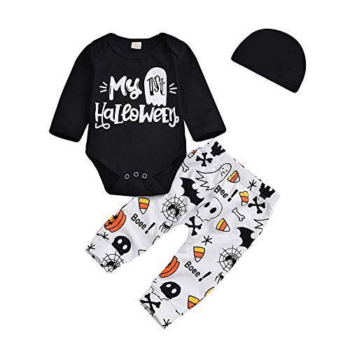 e5892544b712 Yihaojia 3Pcs Halloween Costume Toddler Infant Baby Girls Boys ...