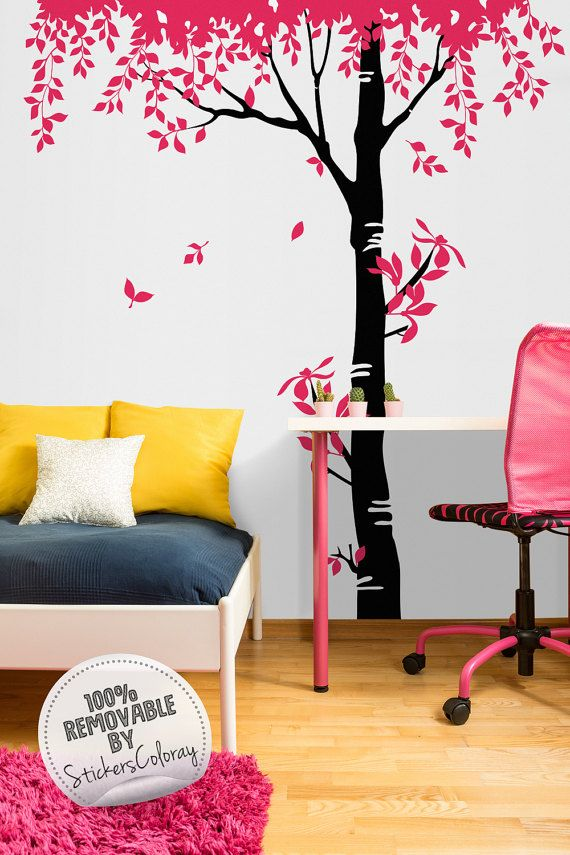 Large tree wall decal, Removable wall decor, Tree wall sticker, Peel and Stick, Tree wall decal for Kids room, Nursery, Wall decal #78