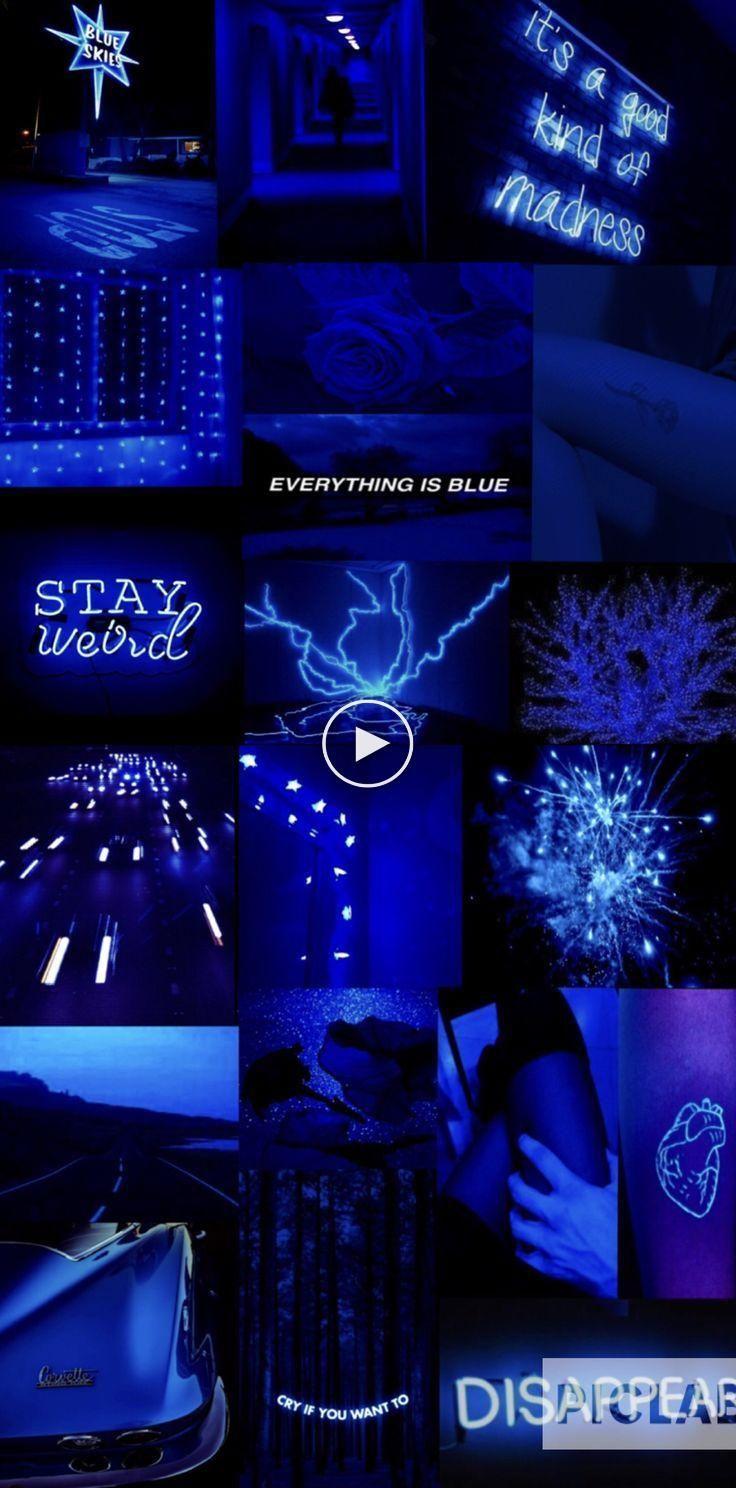 Blue Aesthetic Dark Blue Aesthetic Electric Blue Aesthetic Aesthetic Blue Aesthetic Dark Black Aesthetic Wallpaper Blue Aesthetic Pastel