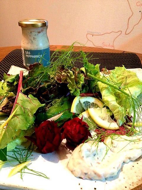 今夜は頂いたしのさんの鎌倉野菜をそねちゃんの西洋わさびソースで頂きました ピリ辛で華やかな風味のソースと香りよい野菜の相性抜群でした しのさん、そねちゃんありがとう - 183件のもぐもぐ - 鎌倉野菜のサラダ 西洋わさびソース by ゆぅ