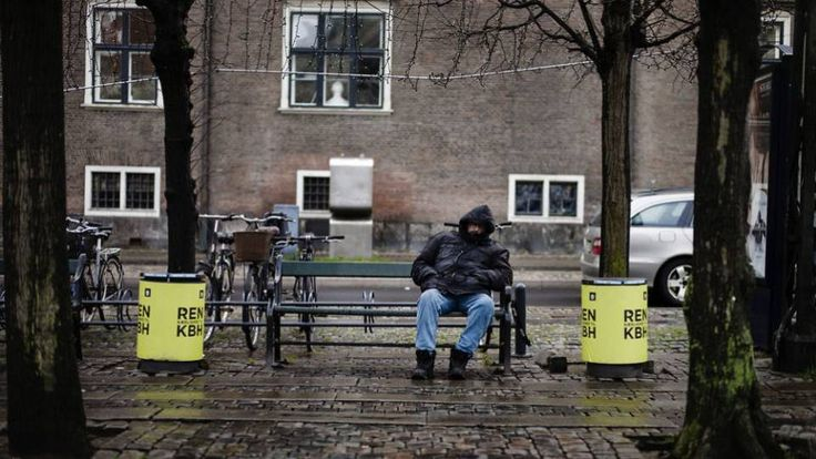 The number of homeless people in Denmark has grown with 29 percent in the period 2009 to 2015.