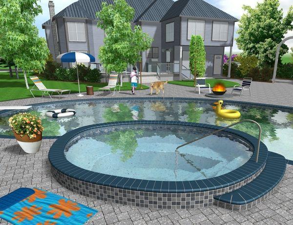Die besten 25+ Landschaftsgestaltungspläne Ideen auf Pinterest - garten mit pool gestalten