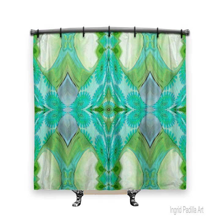 BOHO Chic shower curtain, Turquoise Blue Shower curtain, Shower curtain, Fabric Shower Curtain, Boho Decor, Shabby Chic shower curtain by ingridsart on Etsy https://www.etsy.com/listing/240236284/boho-chic-shower-curtain-turquoise-blue