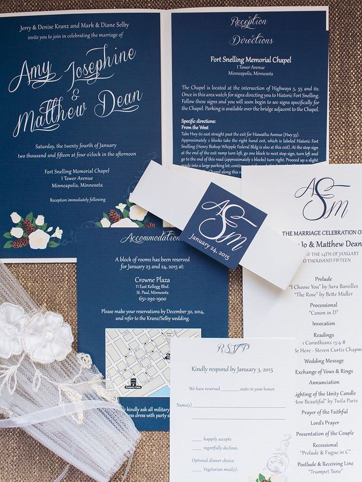 in wedding invitations is the man s name first%0A    Elegant Invitations for a Winter Wonderland Wedding