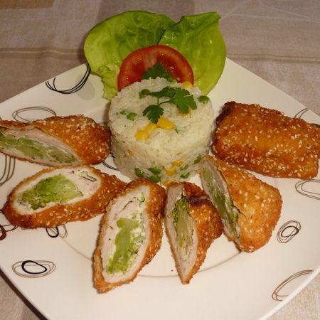 Fűszeres sajttal brokkolival töltött csirke Recept képpel - Mindmegette.hu…