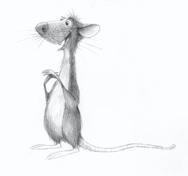 Крыса смешная картинка нарисованная