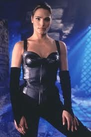 Katina from Mortal Kombat  Basically this plus blue accents and blade fans