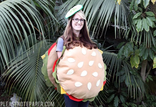 Please Note: DIY: No-Sew Burger Costume
